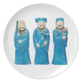 Tres hombres sabios platos