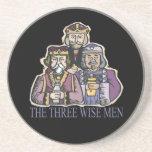 Tres hombres sabios posavaso para bebida