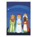 Tres hombres sabios tarjeta