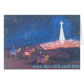Tres hombres sabios tarjeta de felicitación
