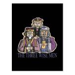 Tres hombres sabios tarjeta postal