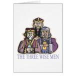 Tres hombres sabios tarjetas