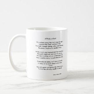 Tres hombres sabios y un final, una taza de café