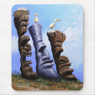 """Tres Hombres Tikis"" Mouse Pad"