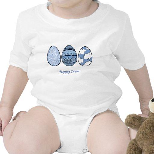Tres huevos azules, Pascua feliz Traje De Bebé