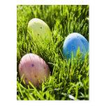 Tres huevos pintados postal