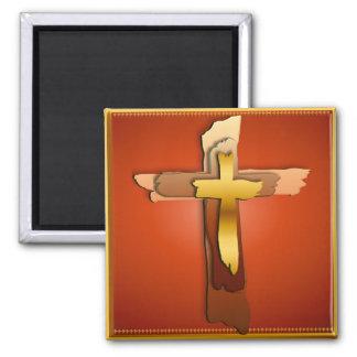 Tres imanes rústicos de las cruces imán de frigorífico
