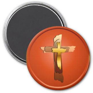 Tres imanes rústicos de las cruces imanes
