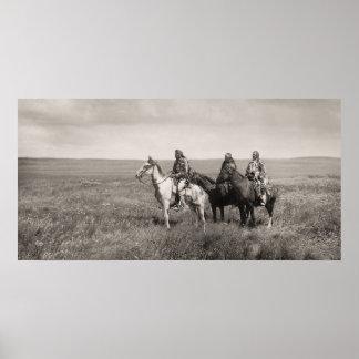 Tres jefes Blackfoot Póster