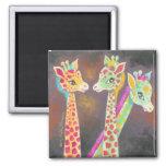 Tres jirafas iman para frigorífico