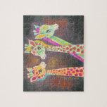 Tres jirafas puzzles con fotos