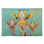 Tres jirafas que miran a escondidas Placemat Manteles Individuales