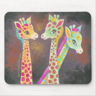 Tres jirafas tapetes de ratón