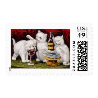 Tres Kittens.jpg alegres Sellos