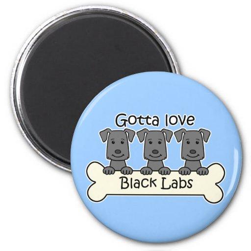Tres laboratorios negros imán redondo 5 cm