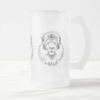 Tres leones taza de cristal