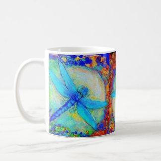 "Tres libélulas azules de ""Zinger"" Taza De Café"
