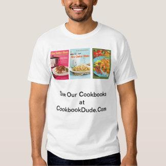 tres libros de cocina en CookBookDude.Com Polera