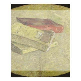Tres libros de Vincent van Gogh Tarjetas Publicitarias