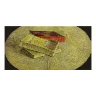 Tres libros de Vincent van Gogh Tarjeta Con Foto Personalizada