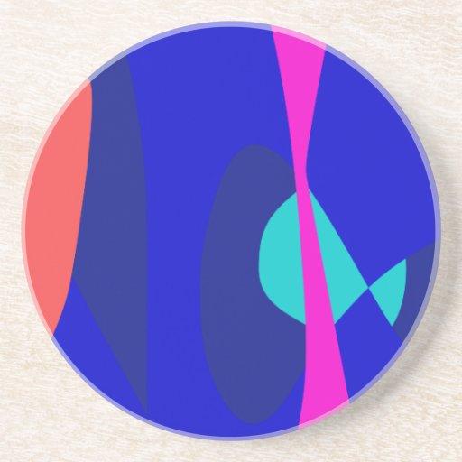 Tres líneas resumen la composición posavasos diseño
