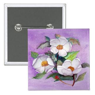 Tres magnolias pin cuadrada 5 cm