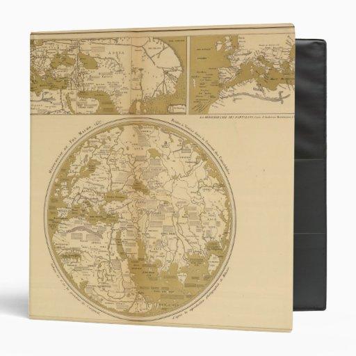 "Tres mapas coloreados carpeta 1 1/2"""