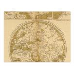 Tres mapas coloreados postales