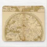 Tres mapas coloreados tapete de raton