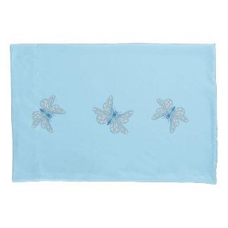Tres mariposas azules funda de cojín