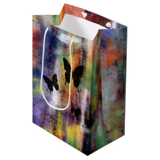Tres mariposas bolsa de regalo mediana