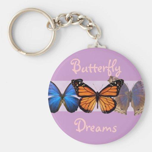Tres mariposas bonitas llaveros personalizados