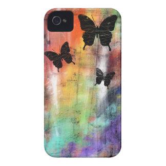 Tres mariposas iPhone 4 carcasa