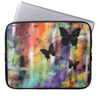 Tres mariposas mangas computadora