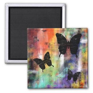Tres mariposas imán de frigorifico