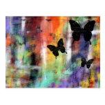 Tres mariposas postal