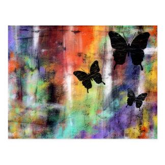 Tres mariposas tarjeta postal