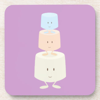 Tres melcochas sonrientes posavaso
