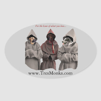 Tres Monks Oval Sticker