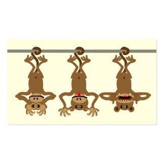 Tres monos frescos tarjetas de visita