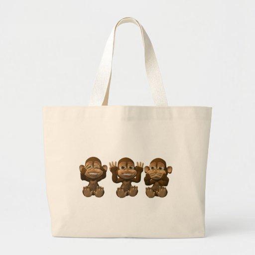 tres monos sabios bolsa