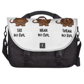 Tres monos sabios bolsas de portátil