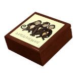 Tres monos sabios cajas de recuerdo