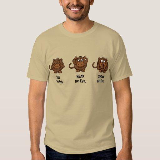 Tres monos sabios camisas