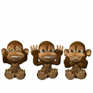 tres monos sabios esculturas fotograficas