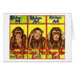 Tres monos sabios felicitaciones