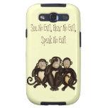Tres monos sabios galaxy SIII cobertura