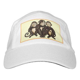 Tres monos sabios gorras de alto rendimiento