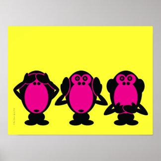 Tres monos sabios impresiones