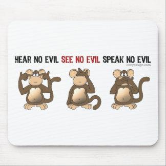 Tres monos sabios Mousepads